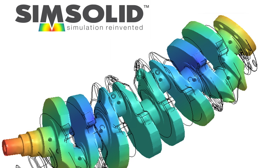 fastway simsolid meshless fea crankshaft modal analysis